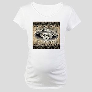 Vintage Catrina Calavera Maternity T-Shirt