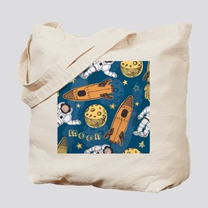 Astronaut Pattern Tote Bag