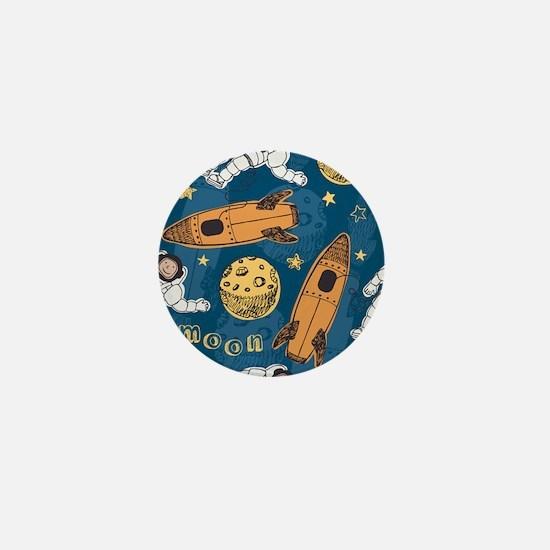 Astronaut Pattern Mini Button