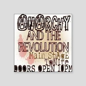 "Vintage_Chick Revolution Square Sticker 3"" x 3"""