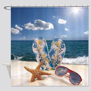 Summer Beach Vacation Shower Curtain