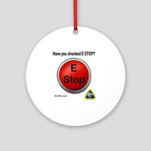 e-stop Round Ornament