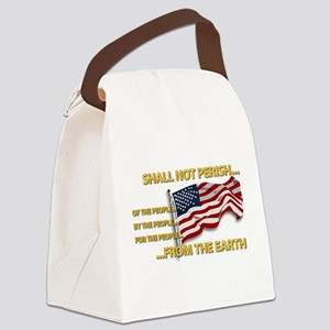 USA - Shall Not Perish Canvas Lunch Bag