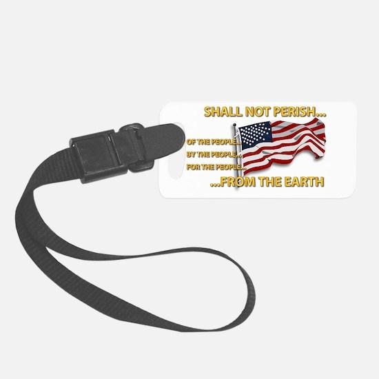USA - Shall Not Perish Luggage Tag