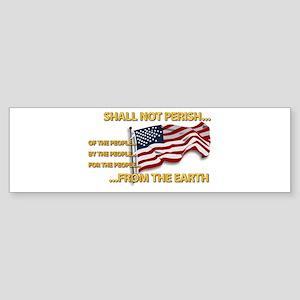 USA - Shall Not Perish Sticker (Bumper)