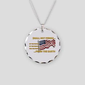 USA - Shall Not Perish Necklace Circle Charm