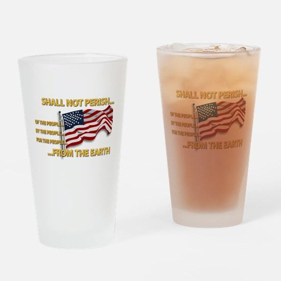 USA - Shall Not Perish Drinking Glass