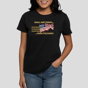 USA - Shall Not Perish Women's Dark T-Shirt