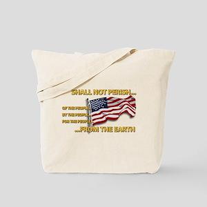 USA - Shall Not Perish Tote Bag