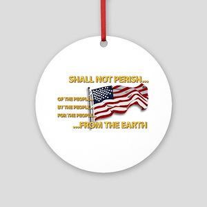 USA - Shall Not Perish Ornament (Round)