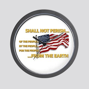 USA - Shall Not Perish Wall Clock