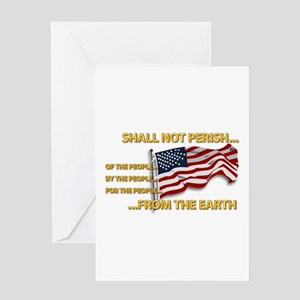 USA - Shall Not Perish Greeting Card