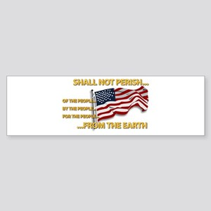 USA - Shall Not Perish Sticker (Bumper)