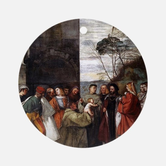 Miracle of the New Infant - Titian - c1511 Round O