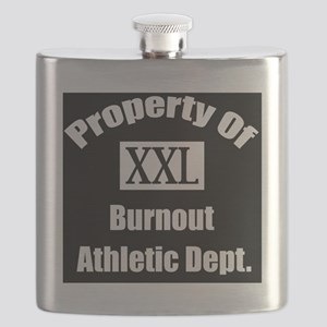 Property of xxl burnout athletic department Flask