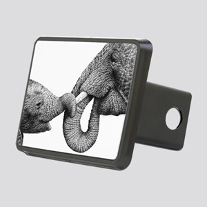African Elephants Serving  Rectangular Hitch Cover