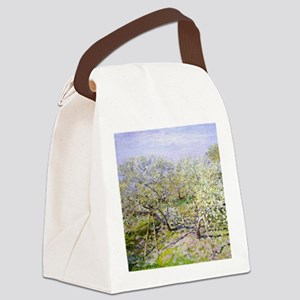 Monet Apple Trees Canvas Lunch Bag