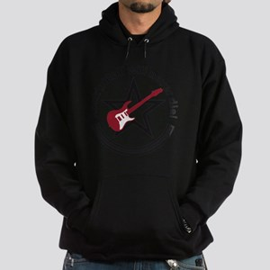 rock star e-guitar player Hoodie (dark)
