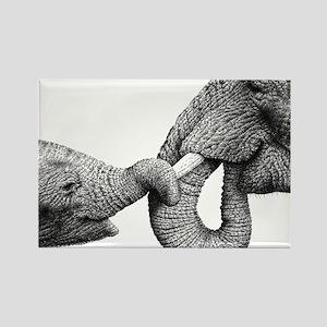 African Elephants Power Bank Rectangle Magnet
