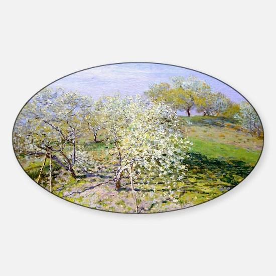 Monet Apple Trees Sticker (Oval)