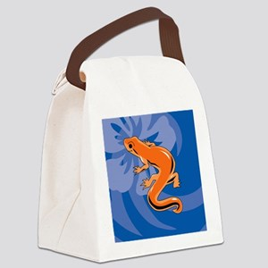 Newt Round Ornament Canvas Lunch Bag