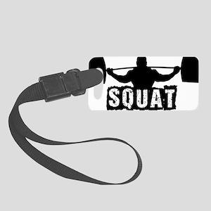 Squat Design. Black. Small Luggage Tag