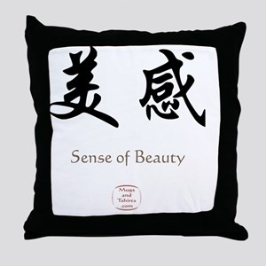 SENSE OF BEAUTY Throw Pillow