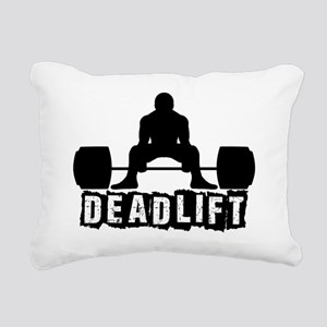 Deadlift Black Rectangular Canvas Pillow