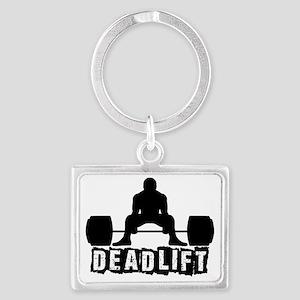 Deadlift Black Landscape Keychain
