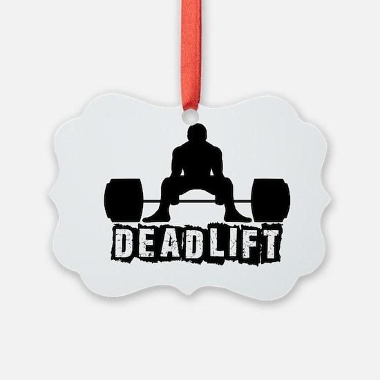 Deadlift Black Ornament