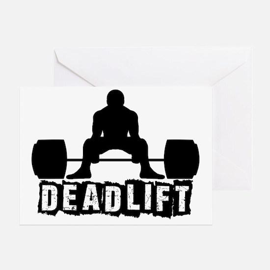 Deadlift Black Greeting Card