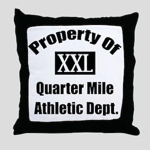 Property XXL Quarter Mile Athletic De Throw Pillow