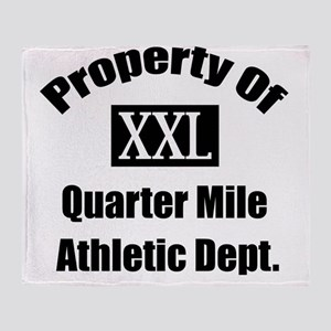 Property XXL Quarter Mile Athletic D Throw Blanket