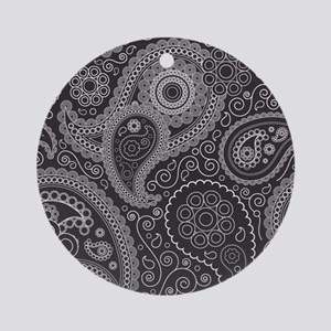 paisley 2 Round Ornament