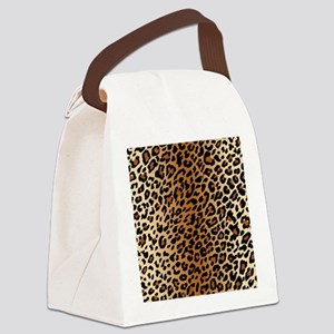 Leopard Print Canvas Lunch Bag