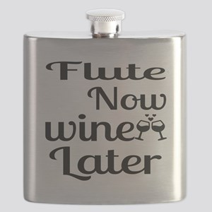 Flute Now Wine Later Flask