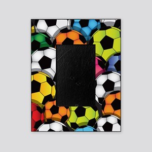 Colorful Soccer Balls Picture Frame