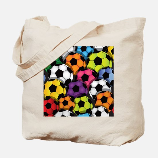 Colorful Soccer Balls Tote Bag