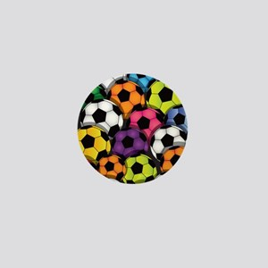 Colorful Soccer Balls Mini Button