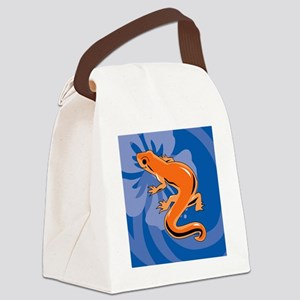 Newt Sticky Notepad Canvas Lunch Bag