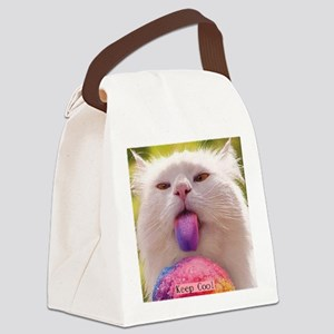Keep Cool Cat Canvas Lunch Bag