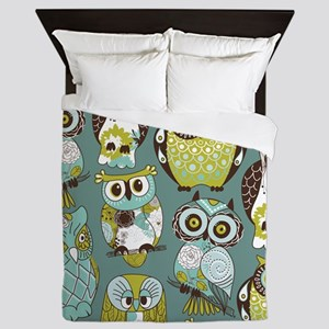 Cute Owls Queen Duvet