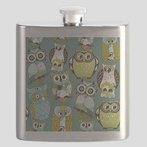 Cute Owls Flask