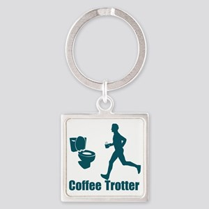 Coffee Trotter Square Keychain