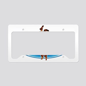 Delray Surf Company Logo License Plate Holder