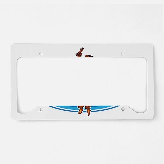 Delray Surf Company Logo License Plate Holder