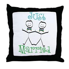 Just Married Groom-Groom Throw Pillow