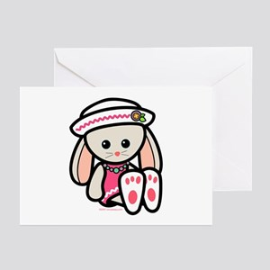Girl Bunny Greeting Cards (Pk of 10)