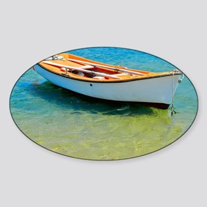 Floating Boat Sticker (Oval)