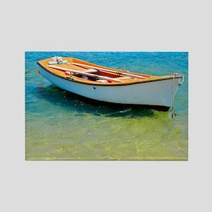 Floating Boat Rectangle Magnet
